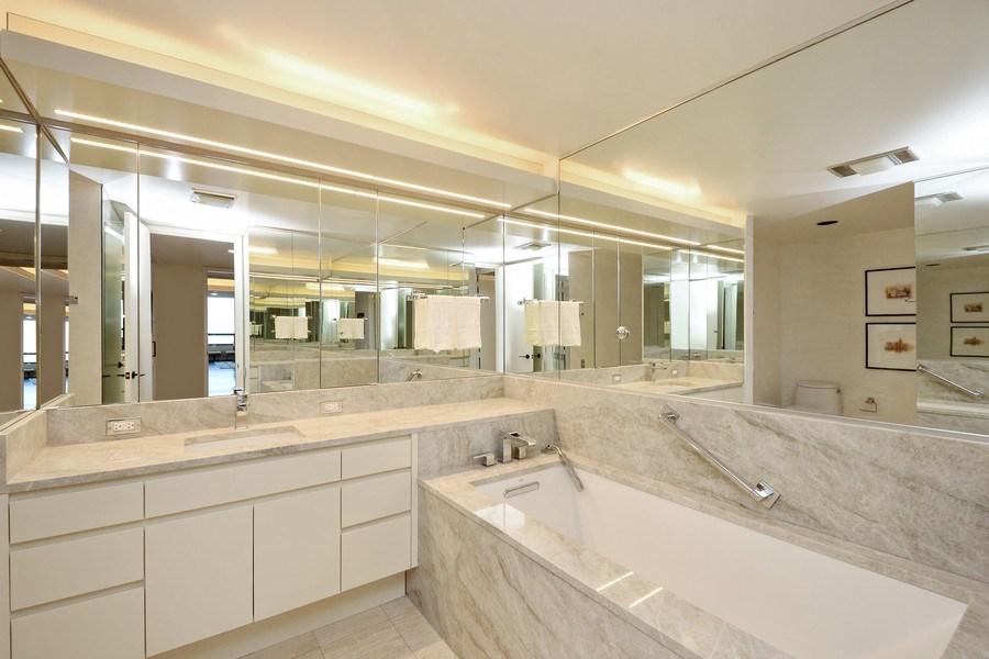 Real Estate Photography - 180 E. Pearson Street, Unit 4404, Chicago, IL, 60611 - Master Bathroom