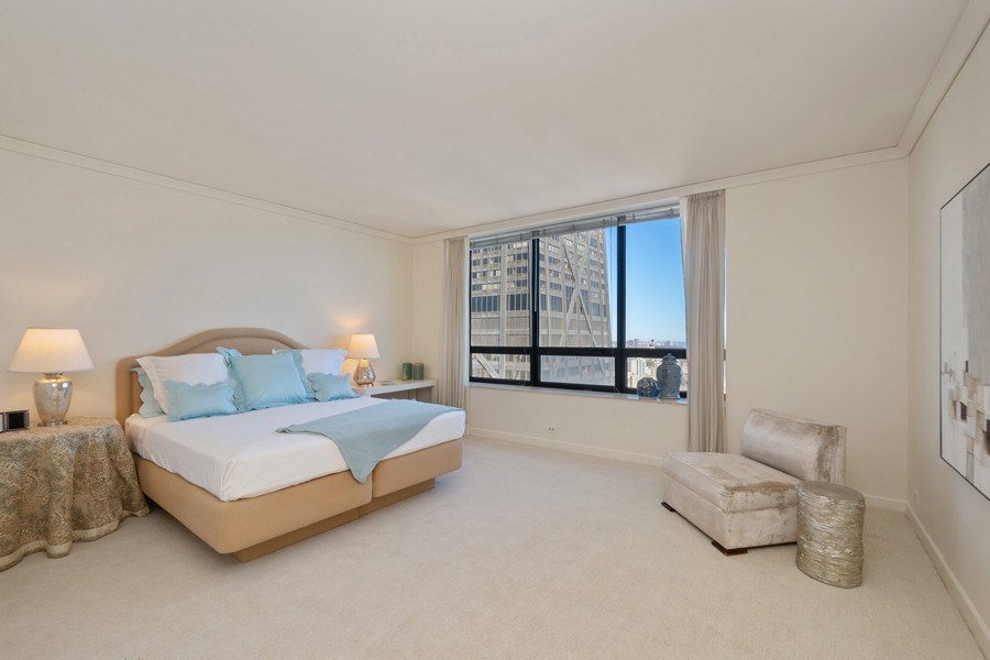 Real Estate Photography - 180 E. Pearson Street, Unit 4404, Chicago, IL, 60611 - Master Bedroom