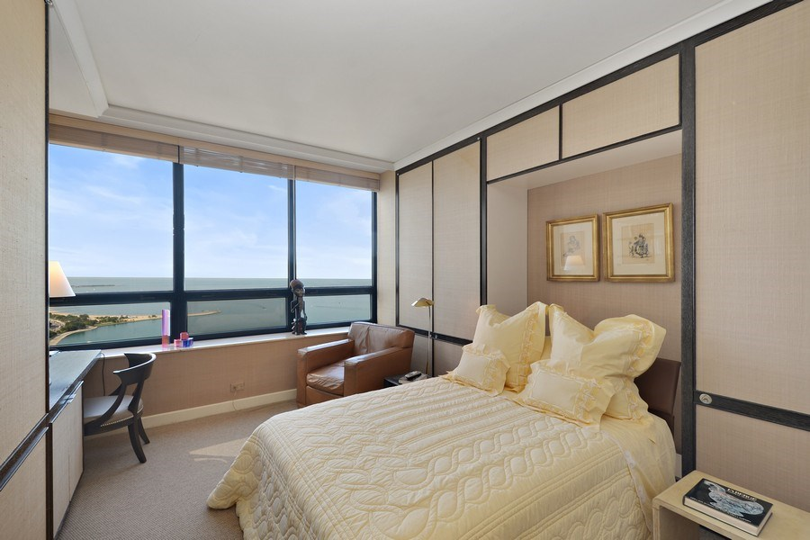Real Estate Photography - 180 E. Pearson Street, Unit 4404, Chicago, IL, 60611 - Bedroom