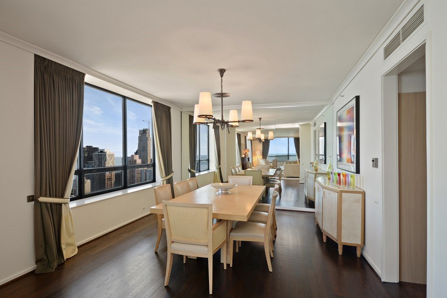 Real Estate Photography - 180 E. Pearson Street, Unit 4404, Chicago, IL, 60611 - Dining Room