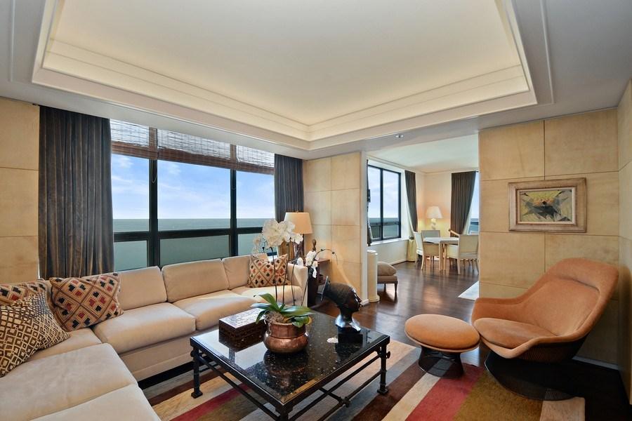 Real Estate Photography - 180 E. Pearson Street, Unit 4404, Chicago, IL, 60611 - Den