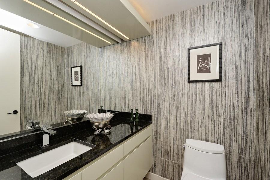 Real Estate Photography - 180 E. Pearson Street, Unit 4404, Chicago, IL, 60611 - Powder Room