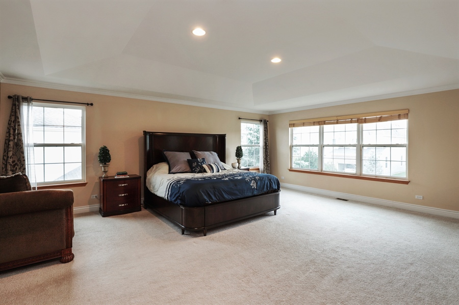 Real Estate Photography - 406 N. White Deer Trail, Vernon Hills, IL, 60061 - Master Bedroom