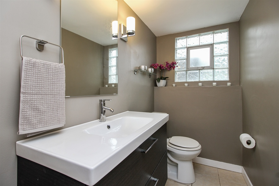 Real Estate Photography - 3324 Hopkins Street, Steger, IL, 60475 - 2nd Bathroom