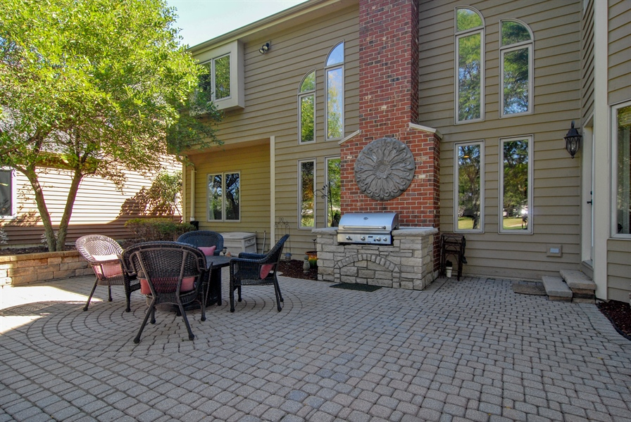 Real Estate Photography - 1090 Chadwick Court, Aurora, IL, 60502 - Brick Patio-Built-in Grill