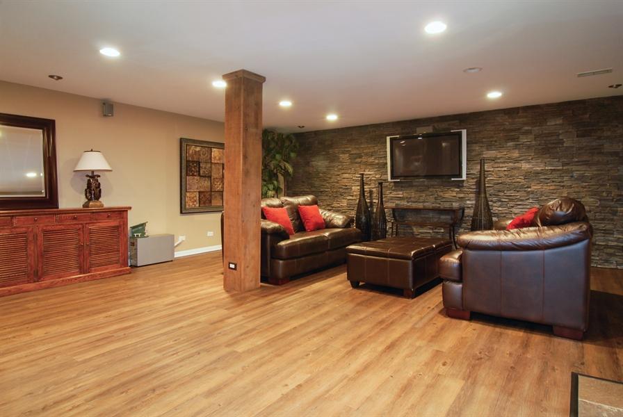 Real Estate Photography - 1090 Chadwick Court, Aurora, IL, 60502 - Basement -Media Room