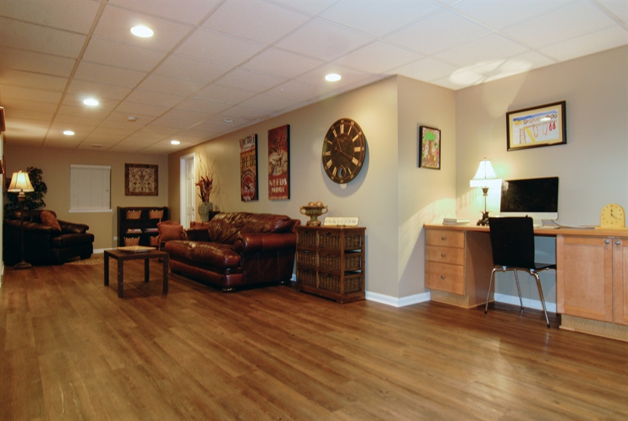 Real Estate Photography - 1090 Chadwick Court, Aurora, IL, 60502 - Basement Rec Room