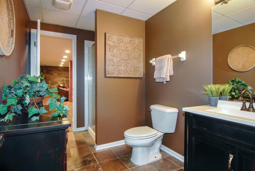 Real Estate Photography - 1090 Chadwick Court, Aurora, IL, 60502 - Basement- Full Bath