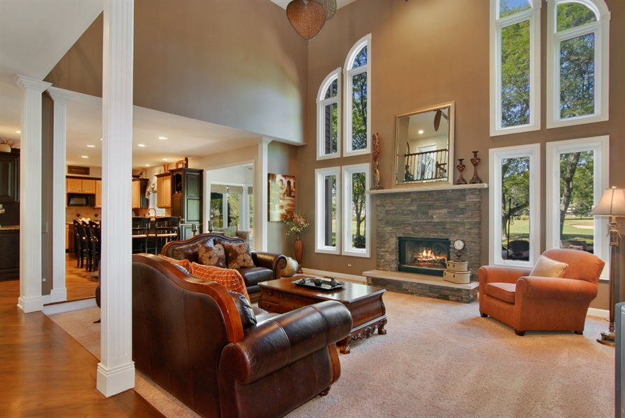 Real Estate Photography - 1090 Chadwick Court, Aurora, IL, 60502 - Family Room