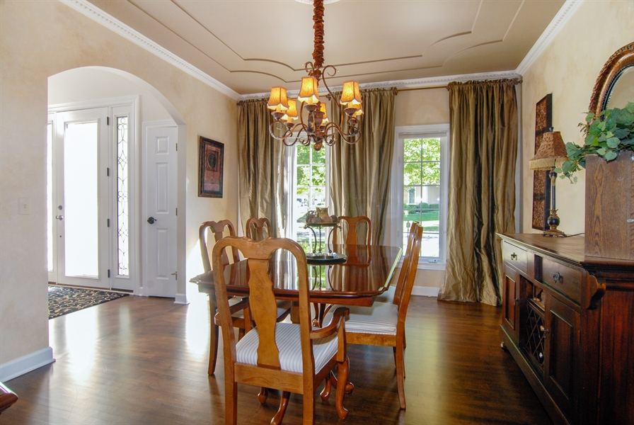 Real Estate Photography - 1090 Chadwick Court, Aurora, IL, 60502 - Dining Area