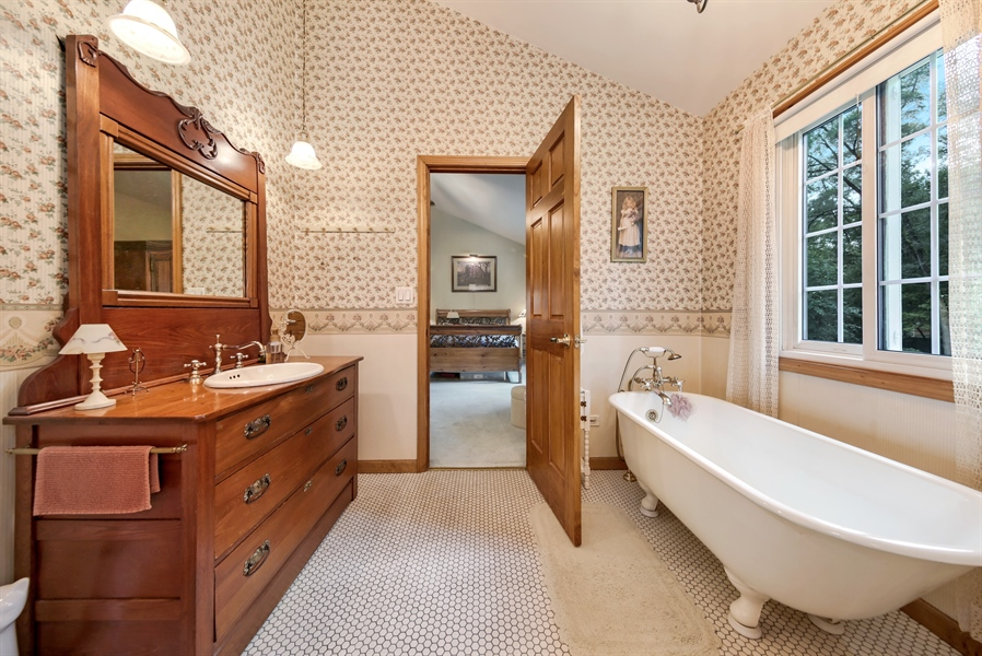 Real Estate Photography - 3S620 Mignin Drive, Warrenville, IL, 60555 - Master Bathroom