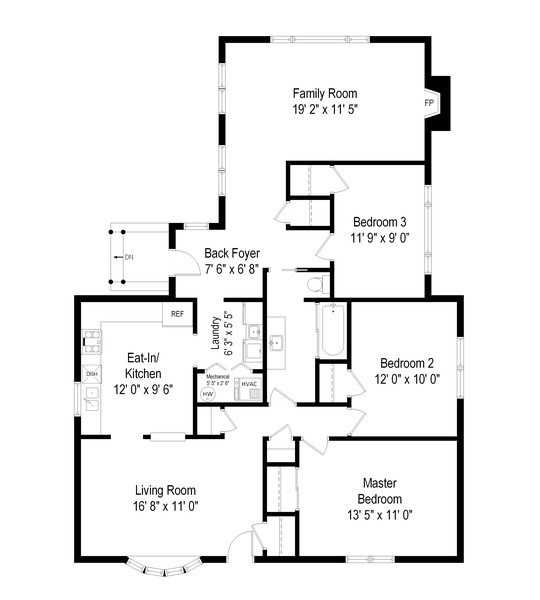 Real Estate Photography - 308 N. William Street, Mount Prospect, IL, 60056 - Floor Plan