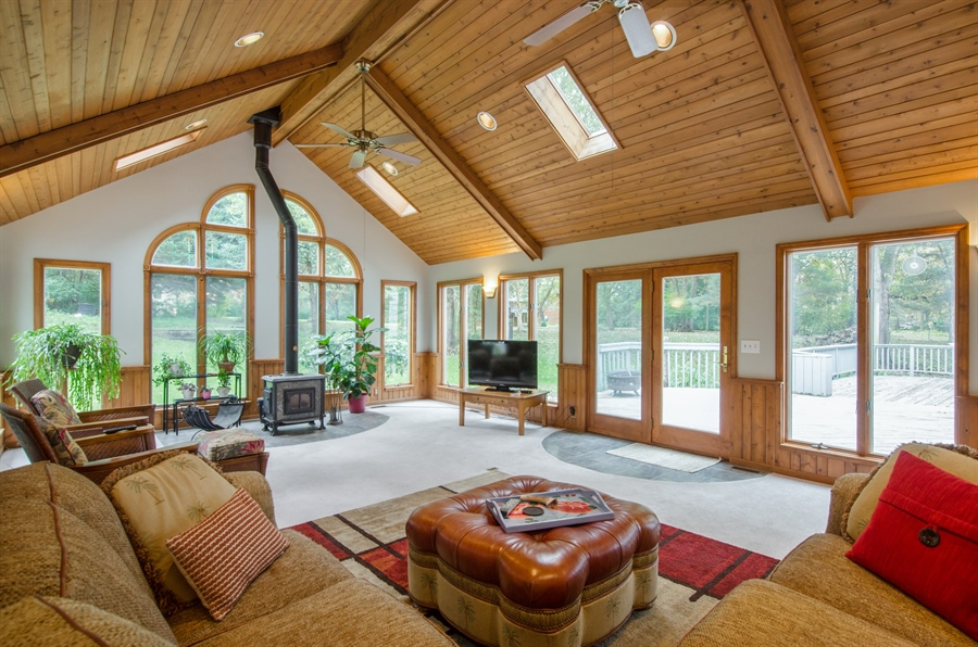 Real Estate Photography - 17N385 Binnie Lakes Trail, West Dundee, IL, 60118 - Sun Room