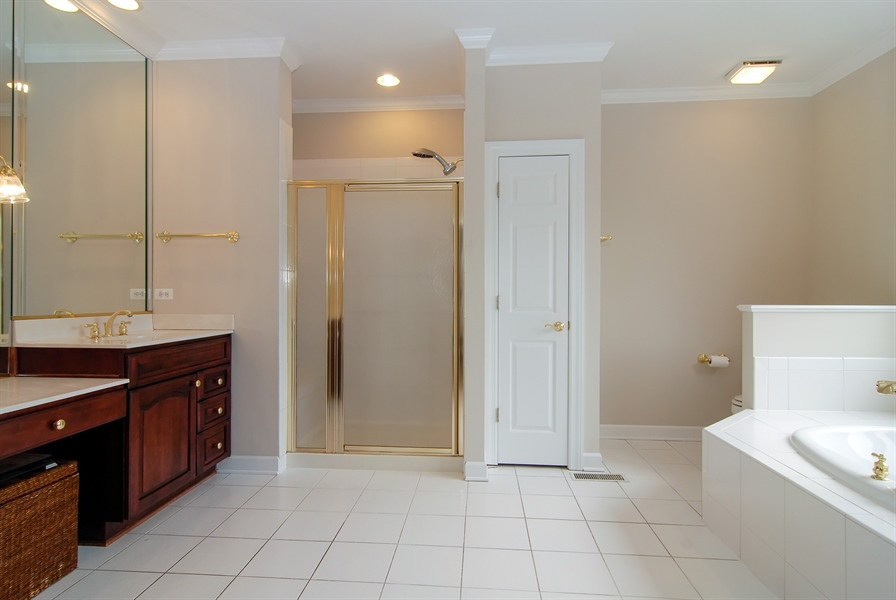 Real Estate Photography - 2321 SUTTON Lane, Aurora, IL, 60502 - Master Bathroom