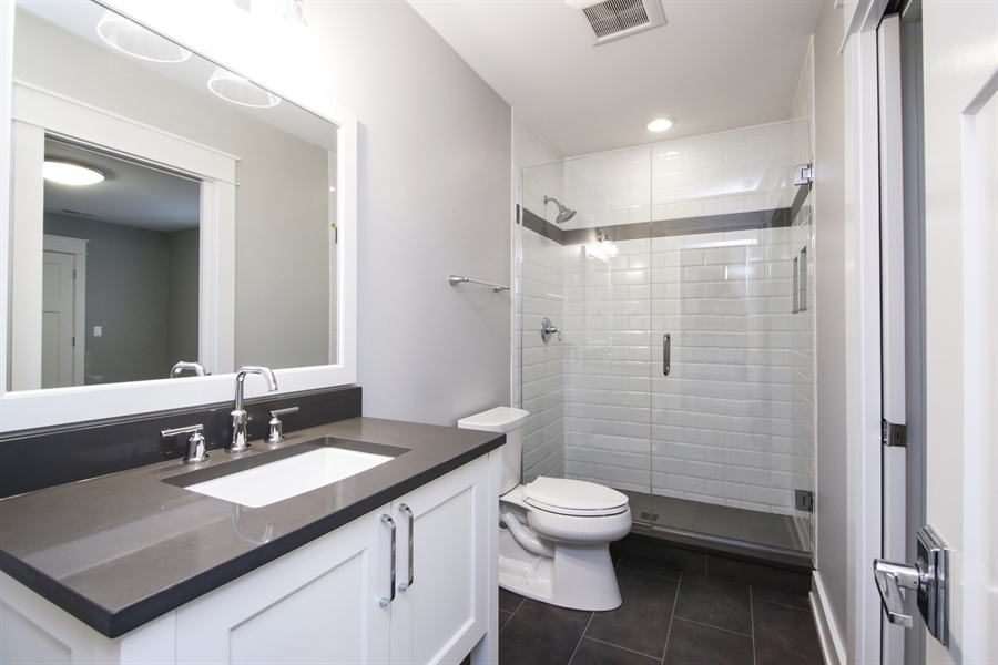 Real Estate Photography - 1719 Maplewood Lane, Glenview, IL, 60025 - 3rd Bathroom