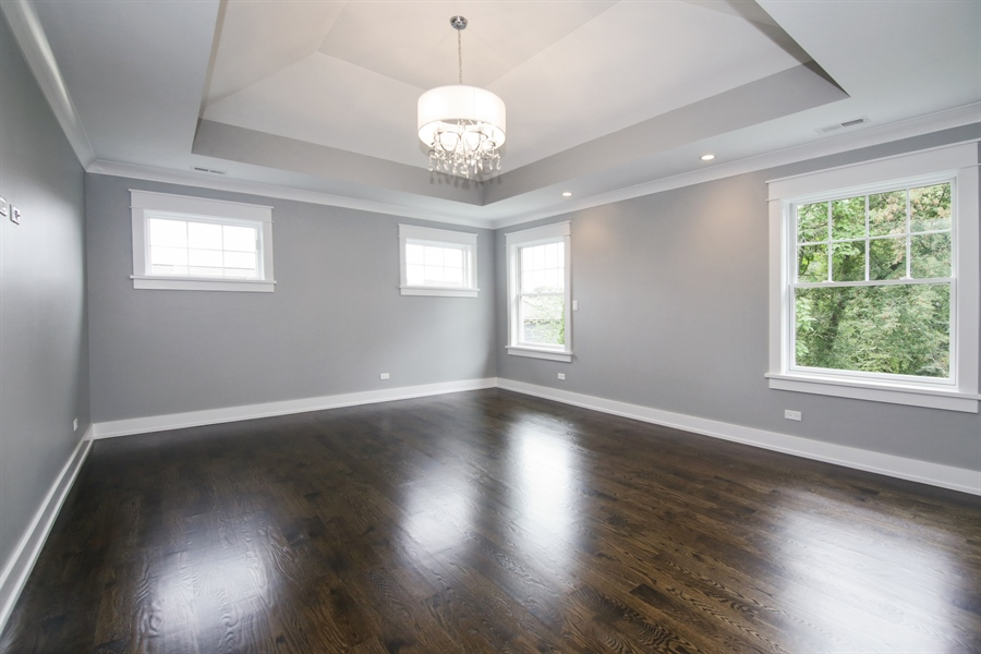 Real Estate Photography - 1719 Maplewood Lane, Glenview, IL, 60025 - Master Bedroom