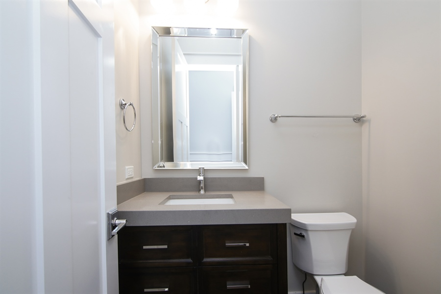 Real Estate Photography - 1719 Maplewood Lane, Glenview, IL, 60025 - Half Bath