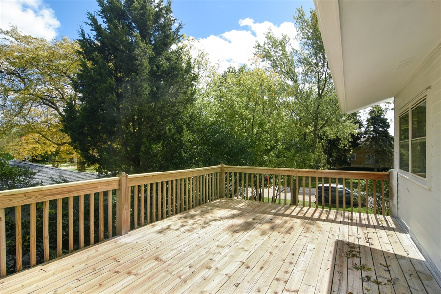 Real Estate Photography - 1065 N. Smith Street, Palatine, IL, 60067 - Deck