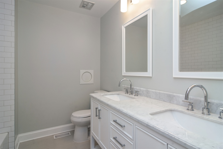 Real Estate Photography - 1065 N. Smith Street, Palatine, IL, 60067 - Hall Bathroom