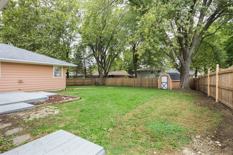 Real Estate Photography - 2279 Copley Street, Aurora, IL, 60506 - Back Yard