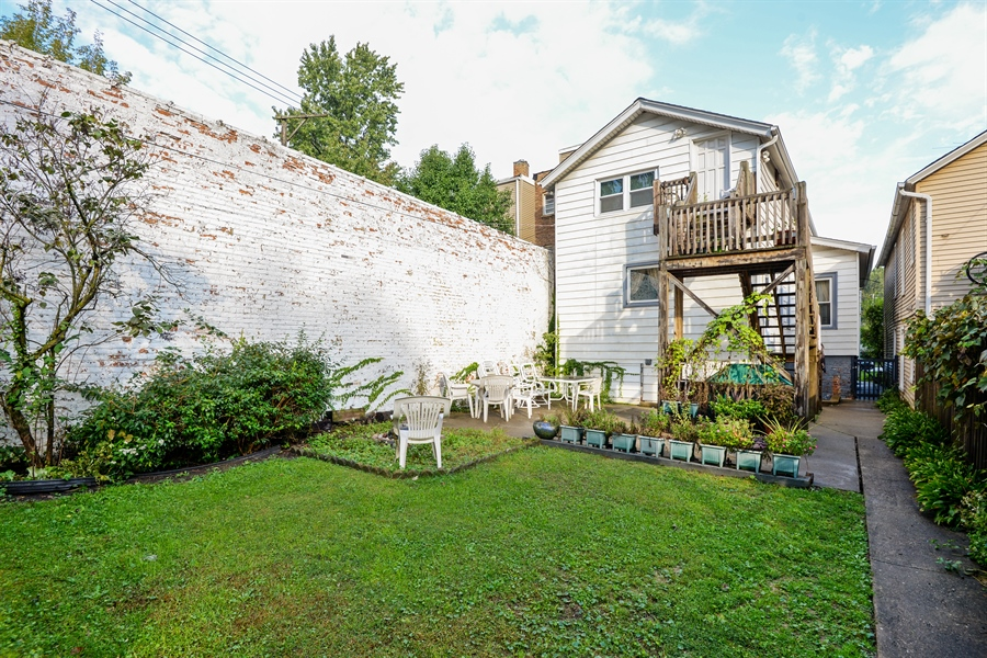Real Estate Photography - 2011 W. Lunt Avenue, Chicago, IL, 60645 - Back Yard