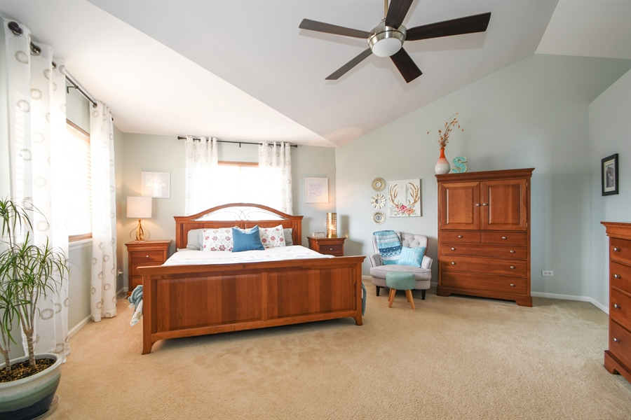 Real Estate Photography - 2710 Eastview Dr, Joliet, IL, 60432 - Master Bedroom