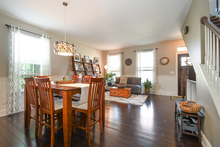 Real Estate Photography - 2710 Eastview Dr, Joliet, IL, 60432 - Living Room / Dining Room