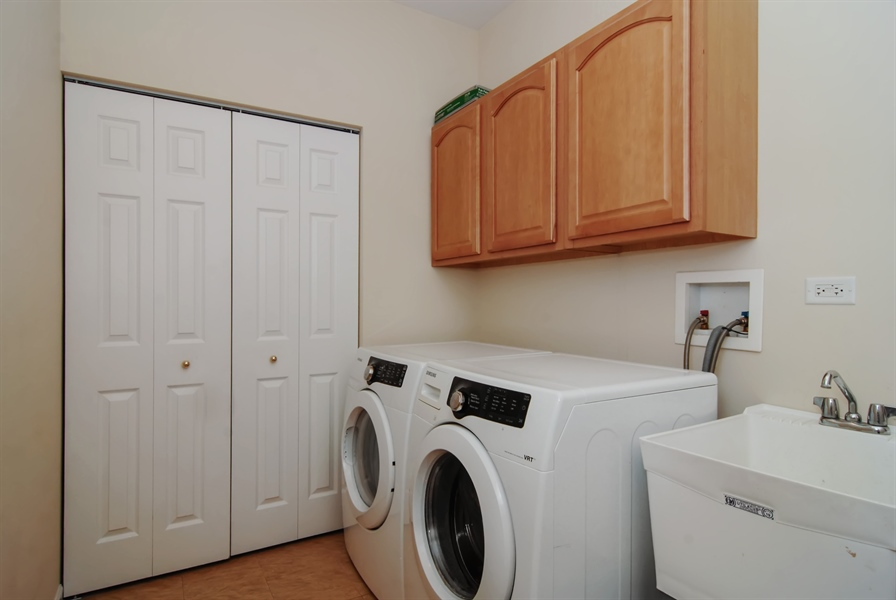 Real Estate Photography - 8210 Claridge Dr, Joliet, IL, 60431 - Laundry Room