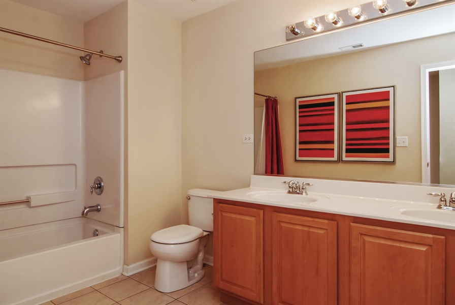 Real Estate Photography - 8210 Claridge Dr, Joliet, IL, 60431 - 2nd Bathroom