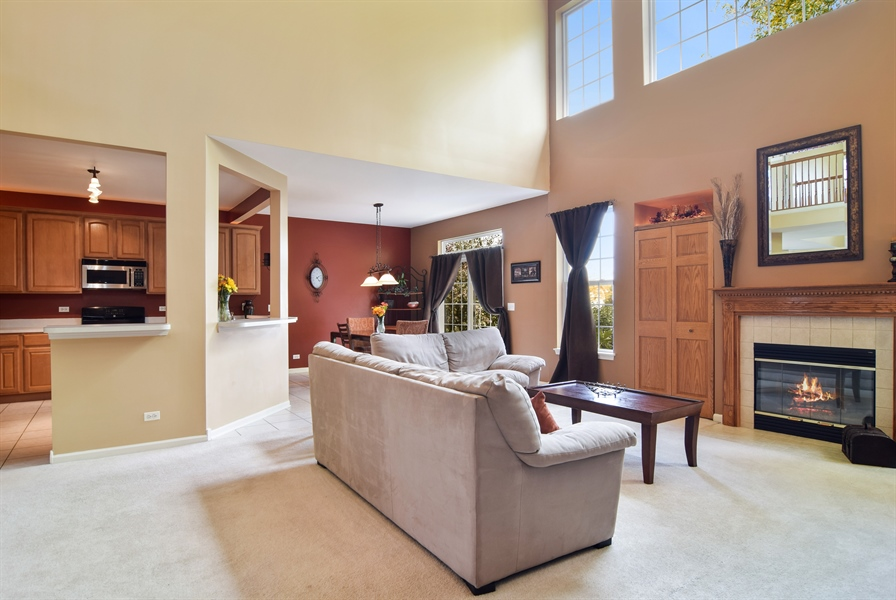 Real Estate Photography - 649 Windett Lane, Geneva, IL, 60134 - Family Room / Kitchen