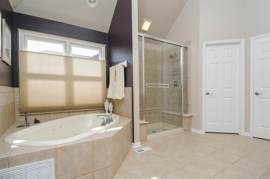 Real Estate Photography - 12027 Winterberry Lane, Plainfield, IL, 60585 - Master Bathroom