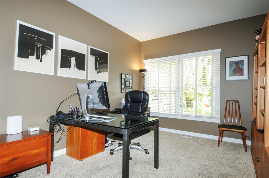 Real Estate Photography - 12027 Winterberry Lane, Plainfield, IL, 60585 - Office