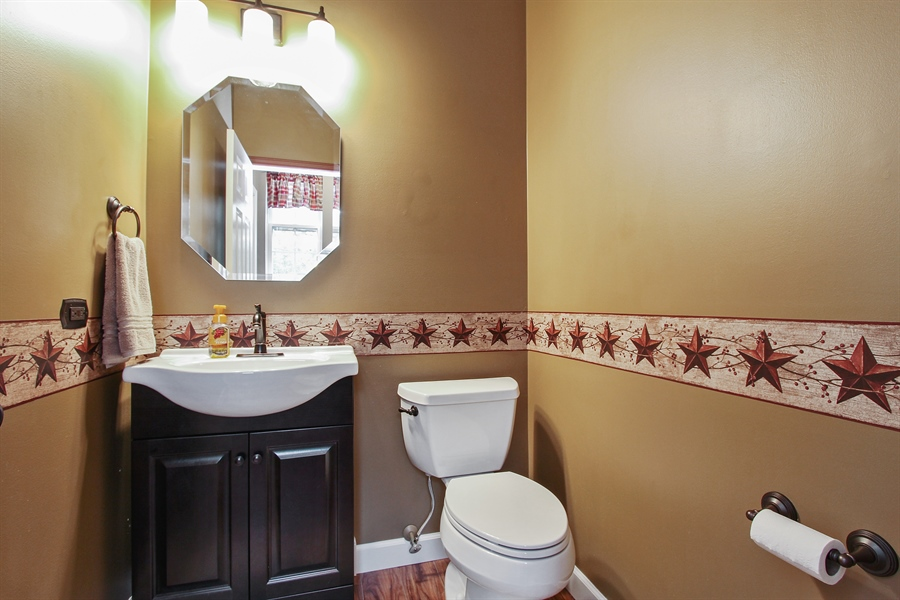Real Estate Photography - 745 Dillon Court, Grayslake, IL, 60030 - Powder Room
