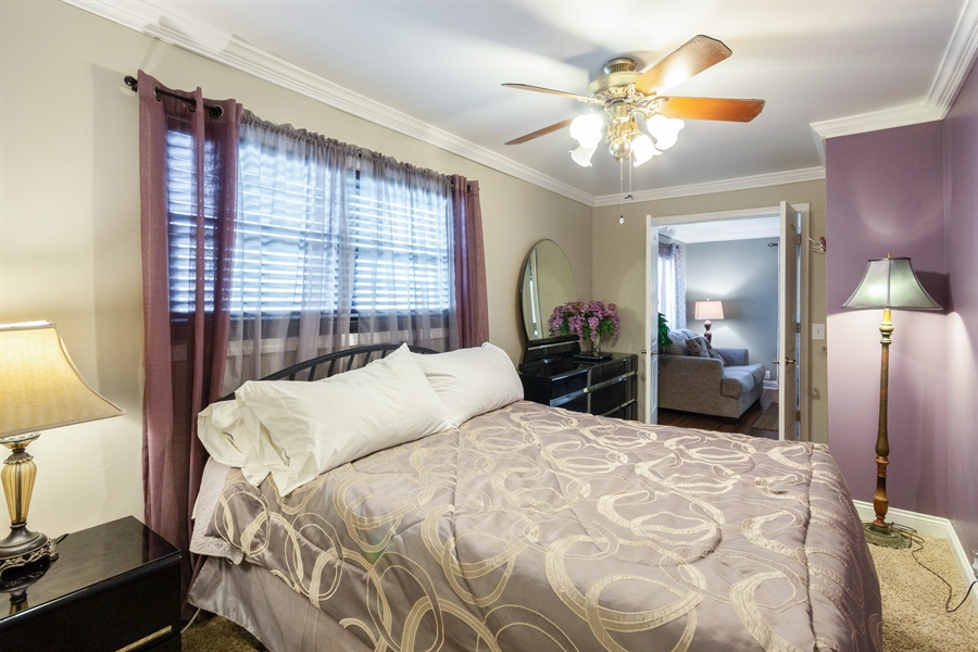 Real Estate Photography - 127 LAUREL Street, Wilmington, IL, 60481 - Main Floor Master Bedroom