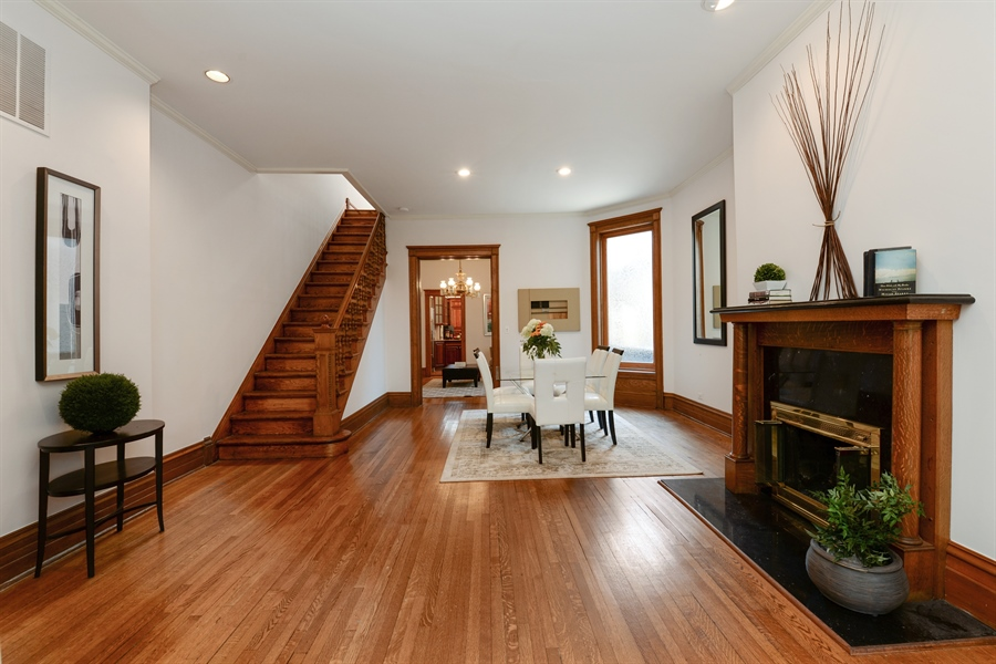 Real Estate Photography - 639 West Surf St, Chicago, IL, 60657 - Dining Room