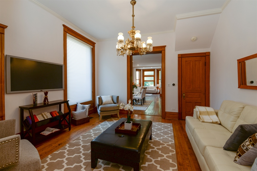 Real Estate Photography - 639 West Surf St, Chicago, IL, 60657 - Family Room