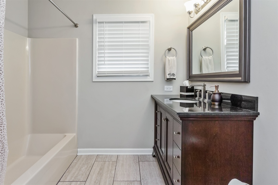 Real Estate Photography - 2114 Lolo Pass Drive, Plainfield, IL, 60586 - Master Bathroom