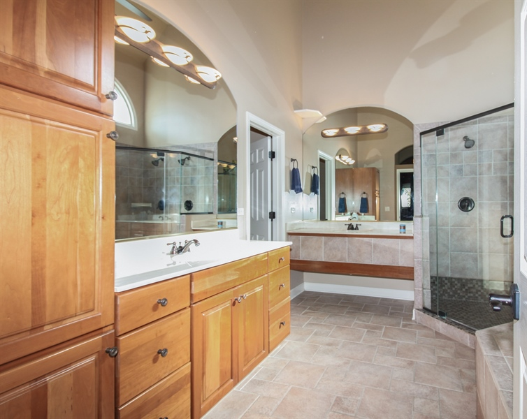Real Estate Photography - 1084 CHADWICK Court, Aurora, IL, 60502 - Master Bathroom
