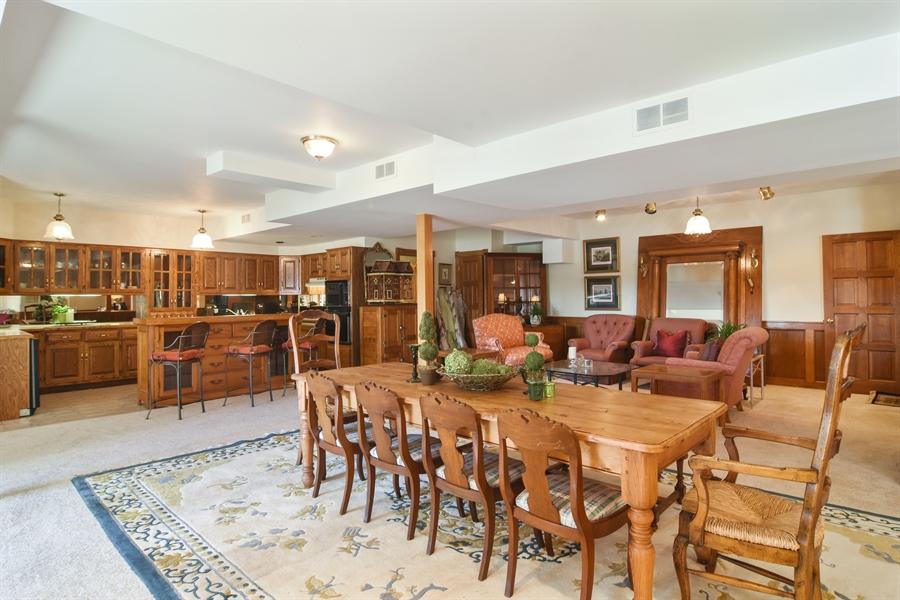 Real Estate Photography - 1411 Carlisle Drive, Barrington, IL, 60010 - Lake Level Entertaining Space