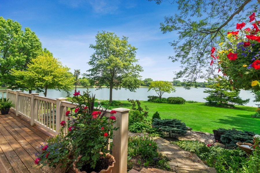 Real Estate Photography - 1411 Carlisle Drive, Barrington, IL, 60010 - View from the Deck