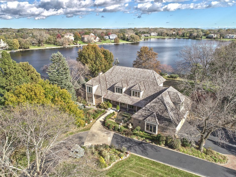 Real Estate Photography - 1411 Carlisle Drive, Barrington, IL, 60010 - Aerial Front View