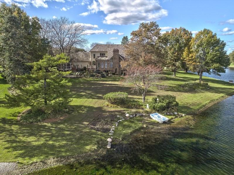 Real Estate Photography - 1411 Carlisle Drive, Barrington, IL, 60010 - Aerial View