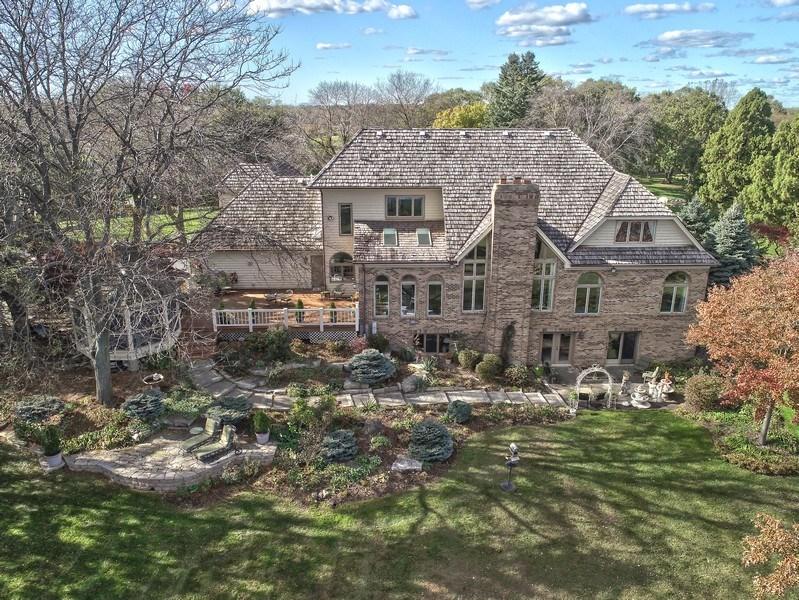 Real Estate Photography - 1411 Carlisle Drive, Barrington, IL, 60010 - Rear Elevation