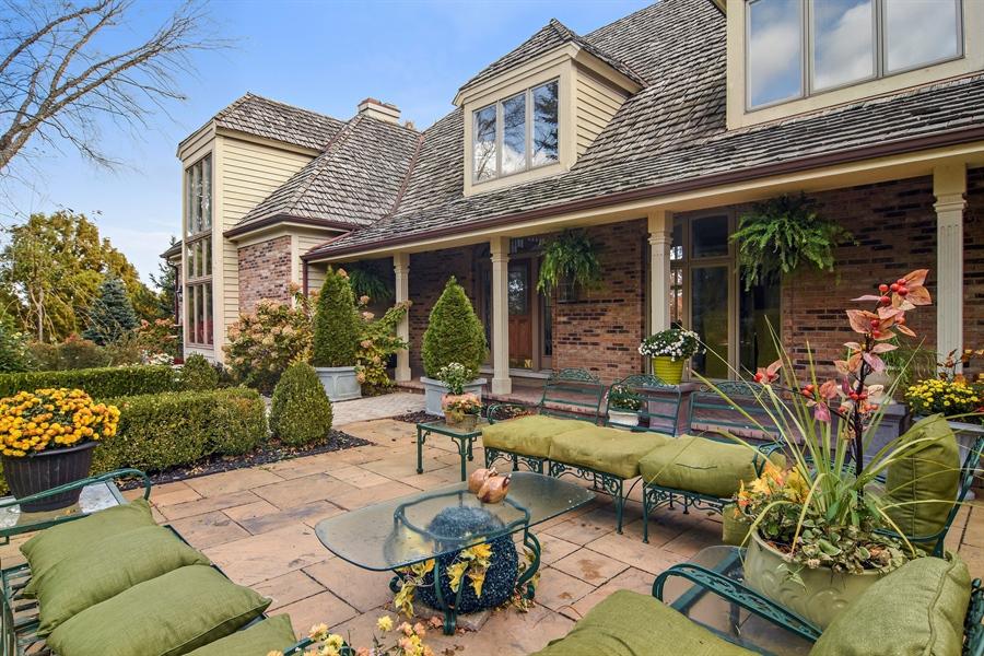 Real Estate Photography - 1411 Carlisle Drive, Barrington, IL, 60010 - Front Patio