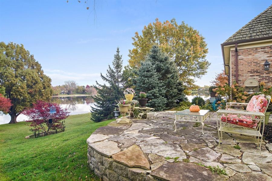 Real Estate Photography - 1411 Carlisle Drive, Barrington, IL, 60010 - Patio by Lake