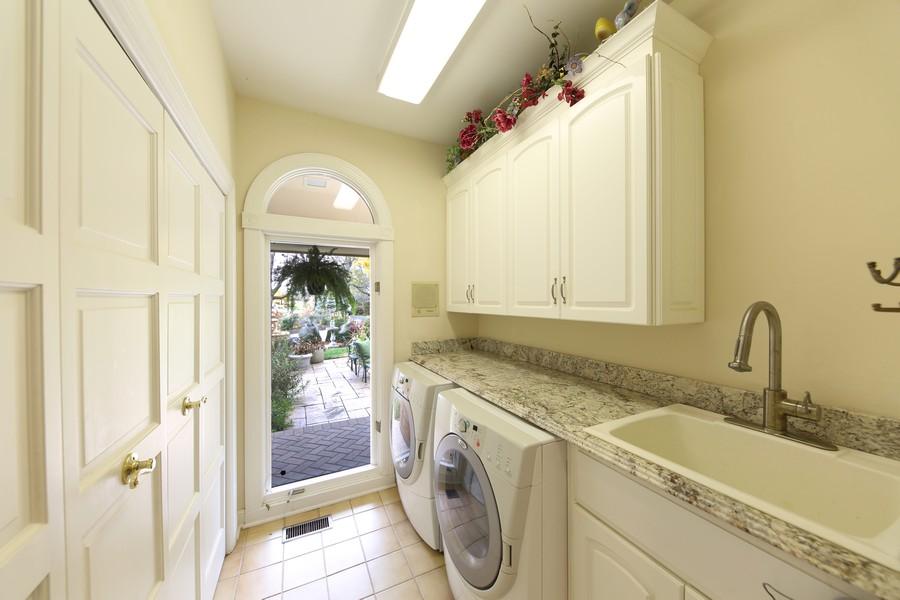 Real Estate Photography - 1411 Carlisle Drive, Barrington, IL, 60010 - First Floor Laundry Room