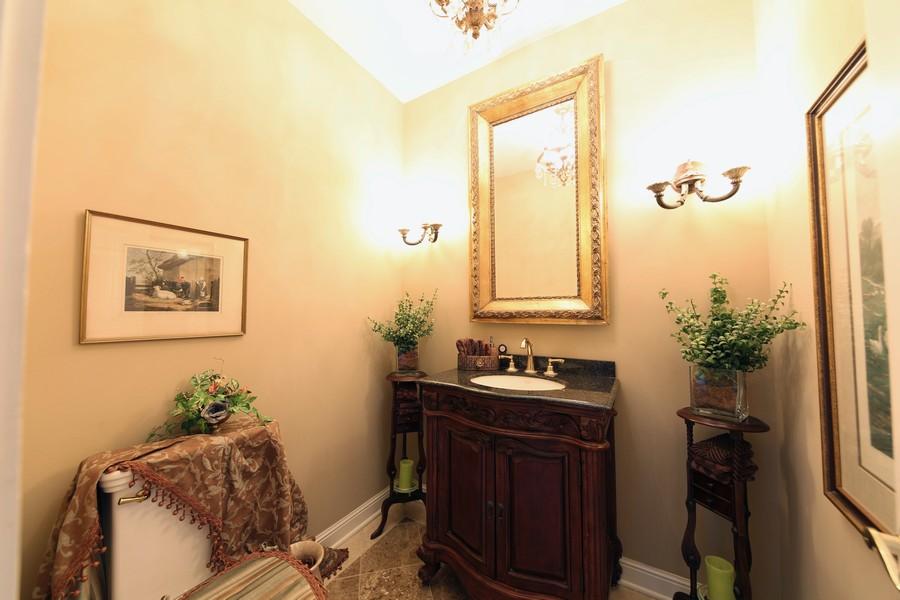 Real Estate Photography - 1411 Carlisle Drive, Barrington, IL, 60010 - 1st Floor Powder Room