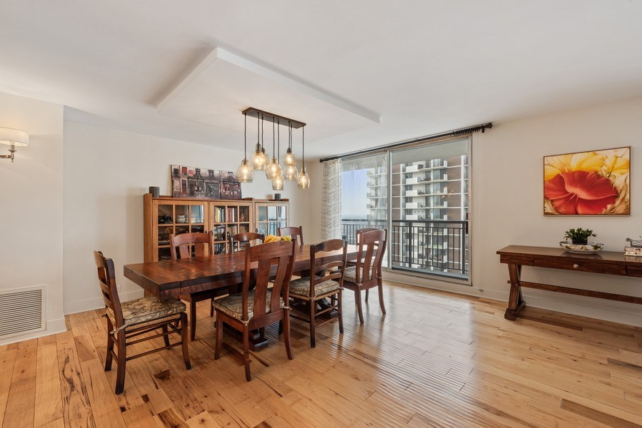 Real Estate Photography - 6007 N. Sheridan Road, Unit 38DF, Chicago, IL, 60660 - Dining Room