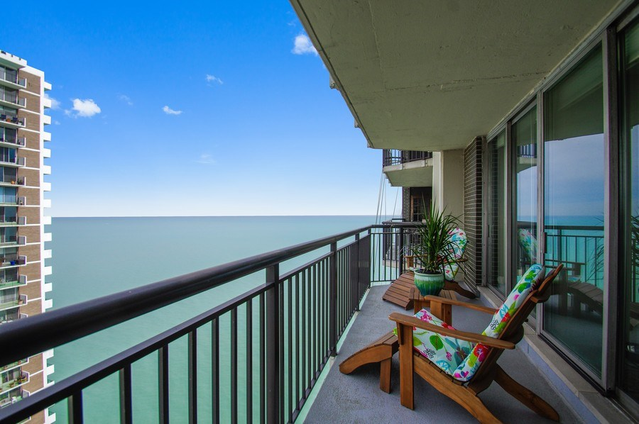 Real Estate Photography - 6007 N. Sheridan Road, Unit 38DF, Chicago, IL, 60660 - Balcony