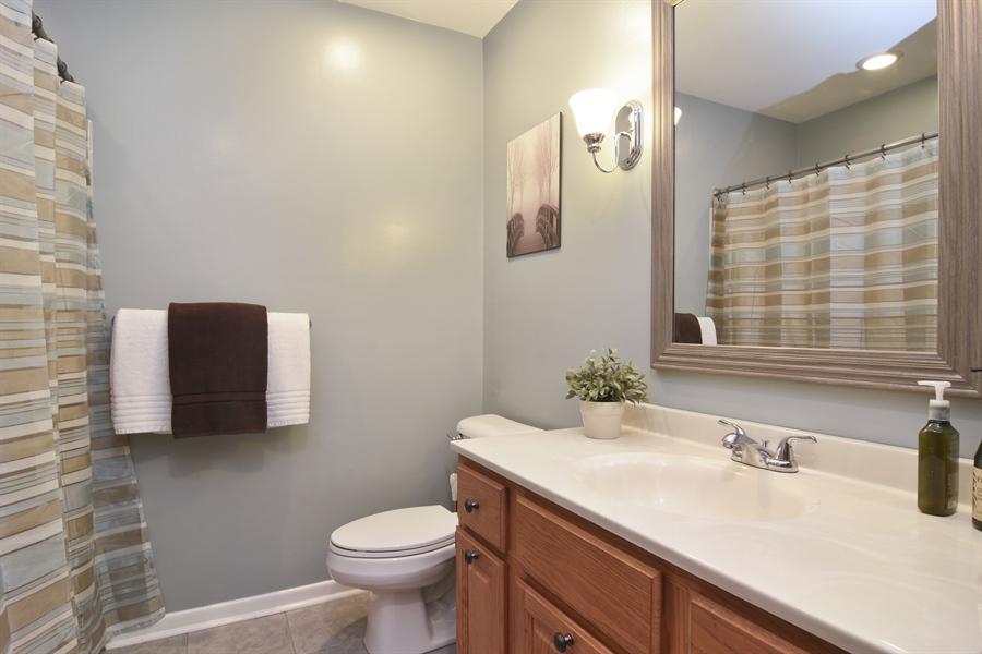 Real Estate Photography - 1327 E. Norman Drive, Palatine, IL, 60074 - Hall Bathroom